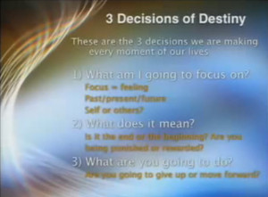 3 Decisions Of Destiny